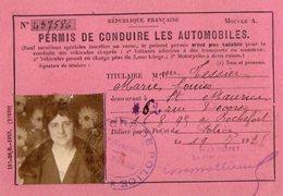 VP14.617 - Préfecture De Police - SAINT MAURICE 1926 - Permis De Conduire Les Automobiles - Mme Marie - Louise TESSIER - Police & Gendarmerie