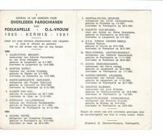 Poelkapelle 1980 Kermis 1981 Gedachtenis Overleden Parochianen O.-L.-Vrouw - Décès