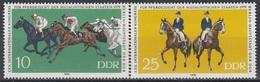 GERMANY DDR 2449-2450,unused,horses - Horses