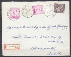 Aangetekend Briefstuk Van St Truiden A2A Naar Brussel - 1936-51 Poortman