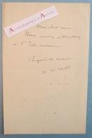 Adolphe WILLETTE L'Isle Adam Peintre Illustrateur Né à Châlons Sur Marne - Billet Lettre Autographe - Autographes