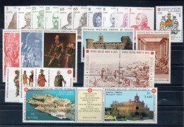 Smom 1993  -- Annata Completa + 4 BF + PA  --- Complete Years  ** MNH / VF - Sovrano Militare Ordine Di Malta
