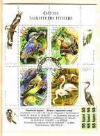 2007 Protected Birds MS – Used /gestemp. (O)  Bulgaria / Bulgarie - Blocchi & Foglietti