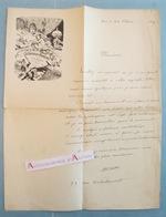 L.A.S 1887 Adolphe WILLETTE Peintre - Dessin - Louis D'Or - Lettre Autographe - Né Chalons Sur Marne - Rue Rochechouart - Autographes
