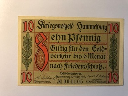 Allemagne Notgeld Hamelburg 10 Pfennig - [ 3] 1918-1933 : République De Weimar