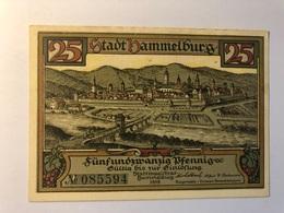 Allemagne Notgeld Hammelburg 25 Pfennig - [ 3] 1918-1933 : République De Weimar