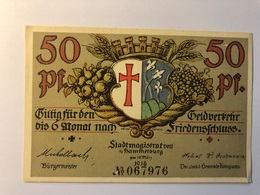 Allemagne Notgeld Hammelburg 50 Pfennig - [ 3] 1918-1933 : République De Weimar