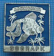 USSR / Badge / Soviet Union / RUSSIA / Moscov Zoo. Fauna. A Fish. Aquarium . - Animali