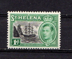SAINT  HELENA    1938    1d  Green    MNH - Saint Helena Island