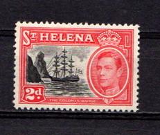 SAINT  HELENA    1938    2d  Red  Orange    MNH - Saint Helena Island