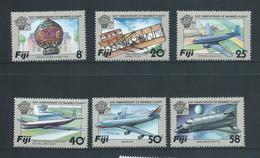 Fiji 1983 Manned Flight Aircraft  Set Of 6 MNH - Fidji (1970-...)
