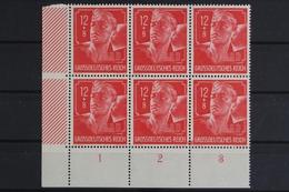 Deutsches Reich, MiNr. 895, 6er Block, Ecke Li. Unten, Postfrisch / MNH - Deutschland