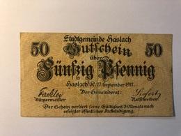 Allemagne Notgeld Haslar 50 Pfennig - [ 3] 1918-1933 : République De Weimar