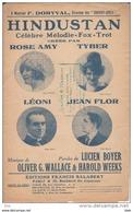 """Partition . """"  Hindustan """" : Mélodie Fox - Trot . Paroles De Lucien Boyer . - Partitions Musicales Anciennes"""