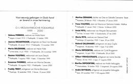Poelkapelle 1999 Kermis 2000 Gedachtenis Overleden Parochianen O.-L.-Vrouw - Décès