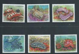 Fiji 1993 Nudibranch Marine Forms Set 6 MNH - Fiji (1970-...)
