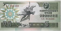Kleines Lot Mit 5 Kassenfrischen Geldscheinen - Corée Du Nord