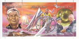 1998 Mali Tabarly France Sailing De Gaulle  Miniature Sheet Of 3  MNH - Mali (1959-...)