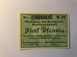 Allemagne Notgeld Lengsfeld 5 Pfennig - [ 3] 1918-1933 : République De Weimar