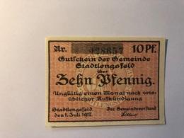 Allemagne Notgeld Lengsfeld 10 Pfennig - [ 3] 1918-1933 : République De Weimar