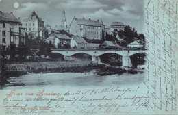 ARNSBERG~ GRUSS Aus MOONLIGHT PANORAMA VIEW-1898 POSTMARK POSTCARD 39694 - Arnsberg