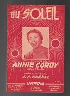 Partition Du Soleil Crée Et Enregistré Par Annie Cordy En 1955 - Partitions Musicales Anciennes
