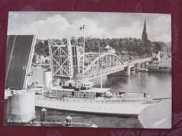 """Denmark 1959 Postcard """"ship Under Bridge""""  Sonderborg To Germany - King - Letter Slogan - Danemark"""
