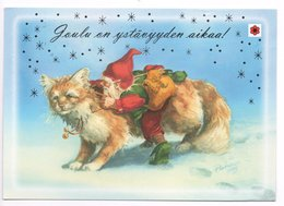 Postal Stationery Finland - CHARITY - CANCER FOUNDATION - KABOUTER & KAT - GNOME & CAT  - Postage Paid - Port Payé - Finland