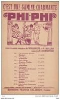 Partition : C ' Est Une Gamine Charmante .  ( Operette Légere ) .  Phiphi . - Partitions Musicales Anciennes