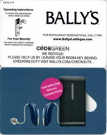 Bally's Oticon ConnectClip--1953-----key Card, Room Key, Schlusselkarte, Hotelkarte - - Cartes D'hotel