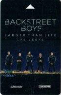 Planet-Holywood-LAs-Vegas---Backstreet-Boys[1975]---key Card, Room Key, Schlusselkarte, Hotelkarte - - Cartes D'hotel