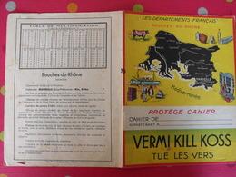 Protège-cahier Vermi Kill Koss Tue Les Vers. Les Départements : Bouches-du-Rhône. Marseille - Protège-cahiers
