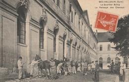 27 - BEC HELLOUIN - Le Quartier Burcy - Le Pansage Des Chevaux - France
