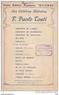 """Partition : """" Je Pleure """" . Mélodie De Paolo Tosti . - Partitions Musicales Anciennes"""
