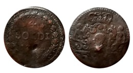 RARE!!! PASCAL PAOLI 4 Soldi 1764 (Murato) Corse Indépendante - Corse (1736-1768)