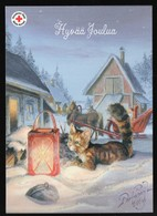 Postal Stationery Finland - RED CROSS - KAT - PAARDENSLEE - CAT - HORSE SLEIGH  - Postage Paid - Port Payé - Finland