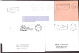 FRANCE '59 COUDEKERQUE BRANCHE P.P.' 1979/96  3 MARQUES POSTALES - Marcophilie (Lettres)