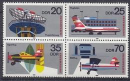 GERMANY DDR 2516-2519,unused,planes - Airplanes
