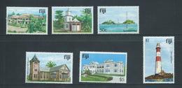 Fiji 1979 Buildings & Landmark Definitives The 6 High Values 35c -> $5 MNH - Fiji (1970-...)