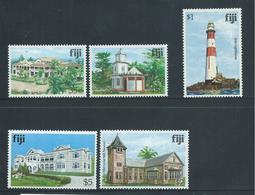 Fiji 1979 Buildings & Landmark Definitives 5 Higher Values 35c -> $5 MNH - Fidji (1970-...)