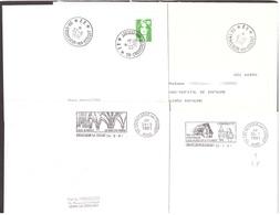FRANCE '59 CREVECOEUR SUR L'ESCAUT P.P.' 1990/91  4 MARQUES POSTALES Et OBLITERATIONS - Marcophilie (Lettres)