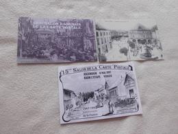 LOT DE 3 CARTES ..SALON DE LA CARTE POSTALE..13E 14E ET 15E ...DE RAON L'ETAPE - Bourses & Salons De Collections