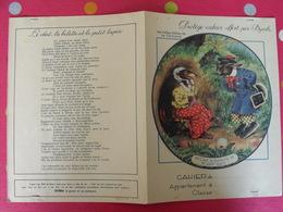 Protège-cahier Byrrh. Les Belles Fables De La Fontaine : Le Chat La Belette Et Le Petit Lapin - Protège-cahiers
