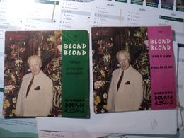 BLOND BLOND. PAIRE DE 45 TOURS. ANNEES 50 / 60? MUSIQUE JUDEO ARABE - Vinyles