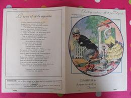 Protège-cahier Byrrh. Les Belles Fables De La Fontaine : Le Renard Et La Cigogne - Protège-cahiers