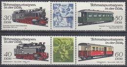 GERMANY DDR 2864-2867,unused,trains - Trains