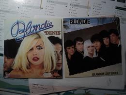 BLONDIE. PAIRE DE 45 TOURS. 1978 / 1982 CHS 2608 / 6172 673. ISLAND OF LOST SOULS / B/W DRAGONFLY / DENIS / CONTACT IN - Vinyl-Schallplatten