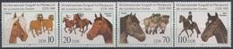 GERMANY DDR 3261-3264,unused,horses - Horses