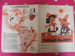 Protège-cahier Cacao Barry. Chocolat. René Letourneur. L'Amérique - Protège-cahiers