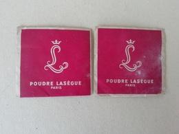 2 Sachets Anciens De Poudre Lasègue, Poudre Pour Le Teint Pour La Collection, échantillons Anciens De Cosmétique - Vintage Miniatures (until 1960)